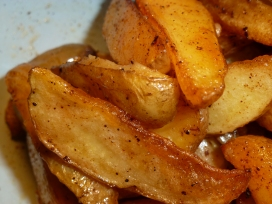 Roasted Potato Fries (cooked in bacon fat)