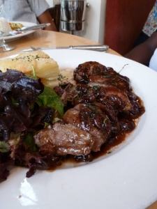 Pan Seared Duck Breast with a Cherry Sauce & Gratin Dauphinois