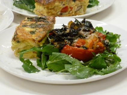 2nd Place--Masala Salads' Fritatta With Stuffed Peppers