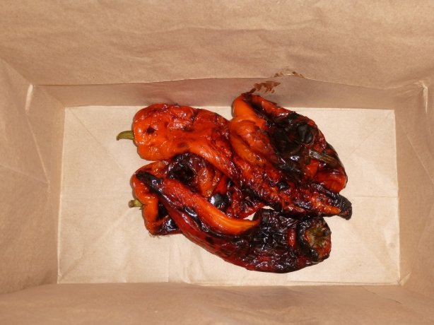 roasted peppers in bag