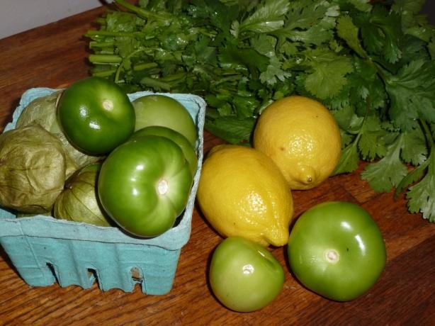 Tomatillo Sauce Ingredients