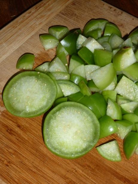 Chopped Tomatillos