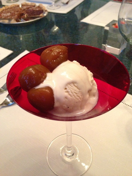 Homemade Brandied Figs with Vanilla Ice Cream
