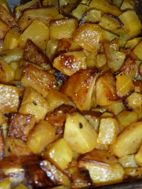 Roasted Carnival Squash Cubes