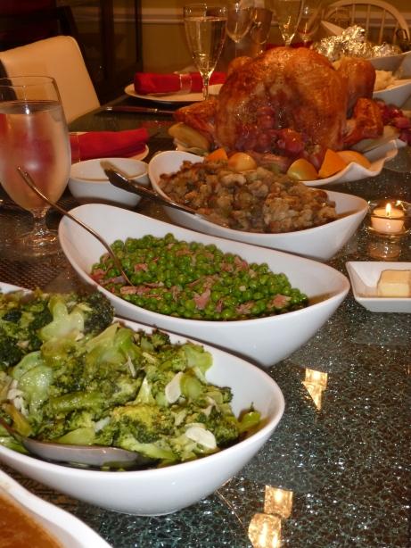 Broccoli, Peas & Pancetta, Stuffing, Turkey