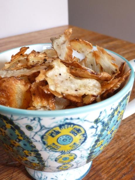 Baked Jerusalem Artichoke (Sunchoke) Chips