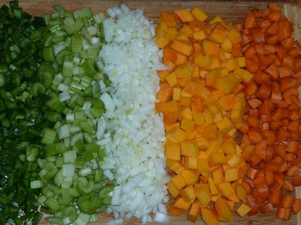 peppers celery onions butternut squash carrots