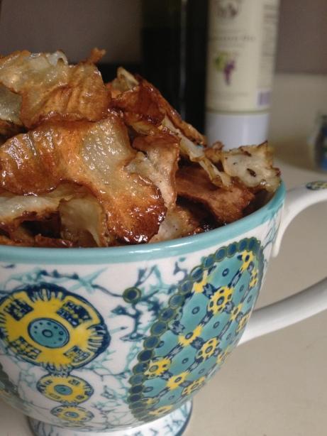 Baked Sunchoke Jerusalme Artichoke Chips