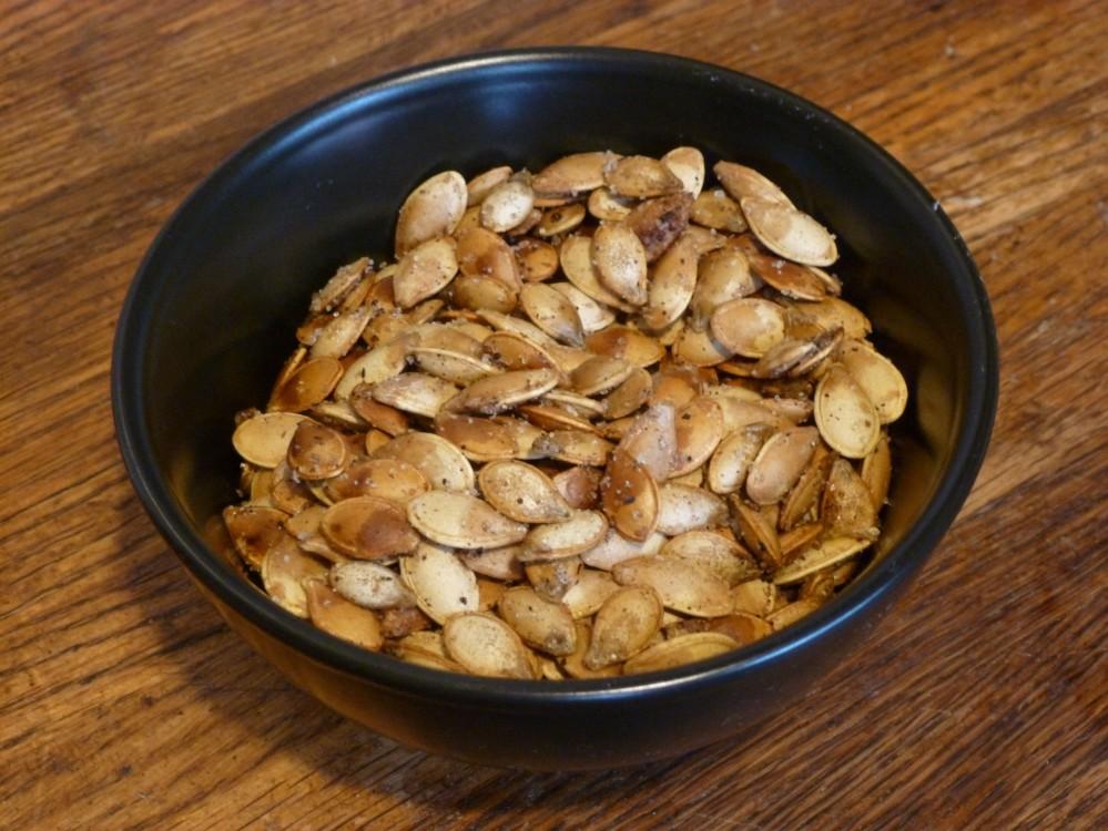 chai toasted pumpkin and squash seeds