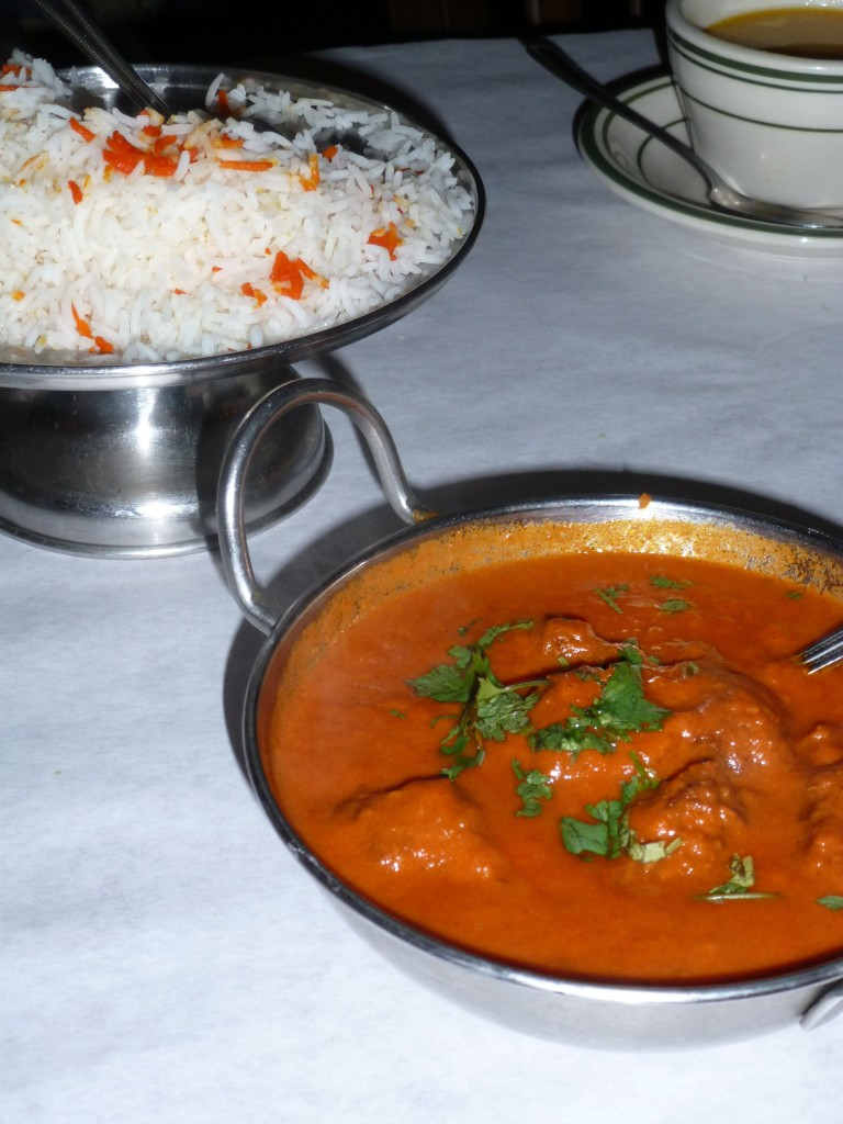 Polash Kofta Masala and rice