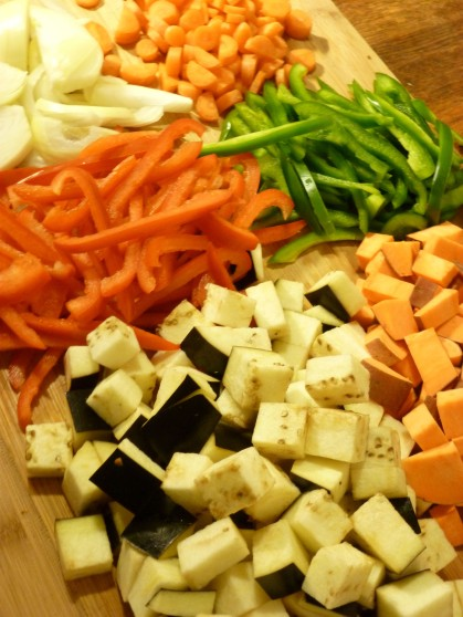 coconut curry soup diced vegetables