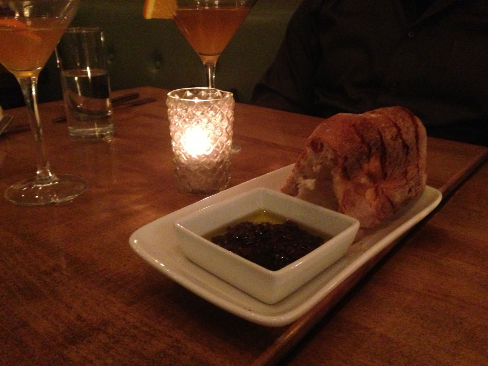 italian bread olive oil and olive spread @ LidoHarlemNYC