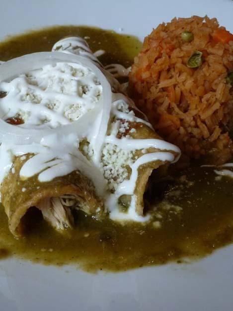 Enchiladas Verdes at El Paso Taqueria