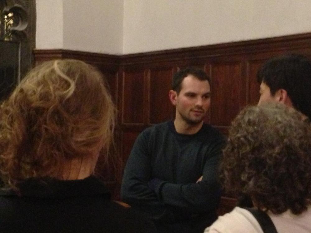 Kyle Buckley mentoring food entrepreneur