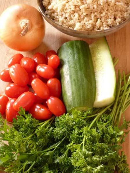 Quinoa Tabouli Vegetables