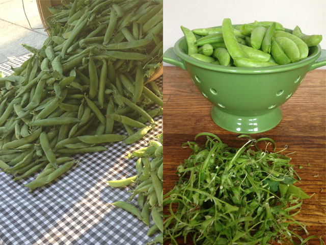 Farmers Market Sugar Snap Peas Trimmed