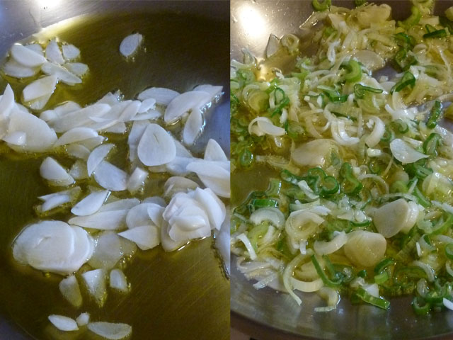 garlic and scallions