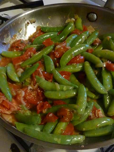 Spaghetti Snap Peas Sauce