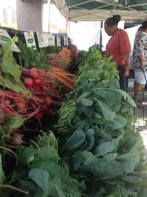 vegetables at 125th St Farmers