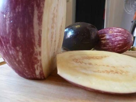 easy way to slice eggplant