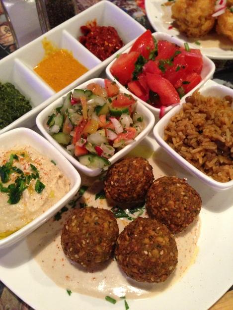 Falafel Plate at @Silvananyc