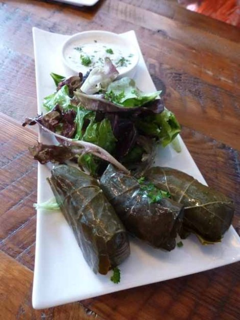 grape leaves appetizer @silvananyc
