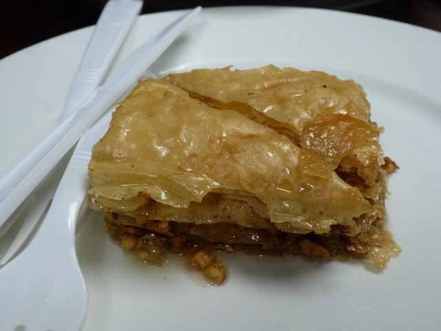 baklava at Astoria Seafood