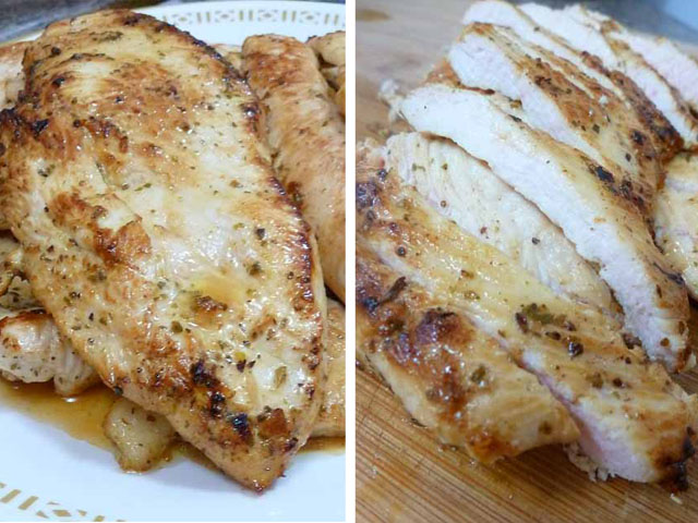grilled & sliced chicken