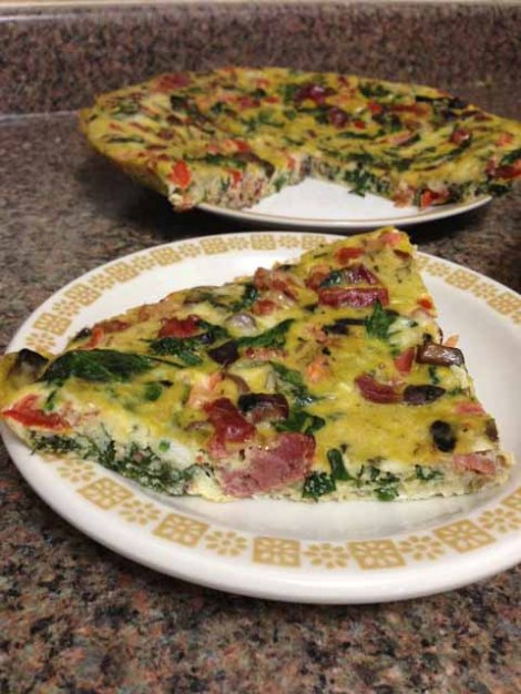 breakfast Frittata slice2