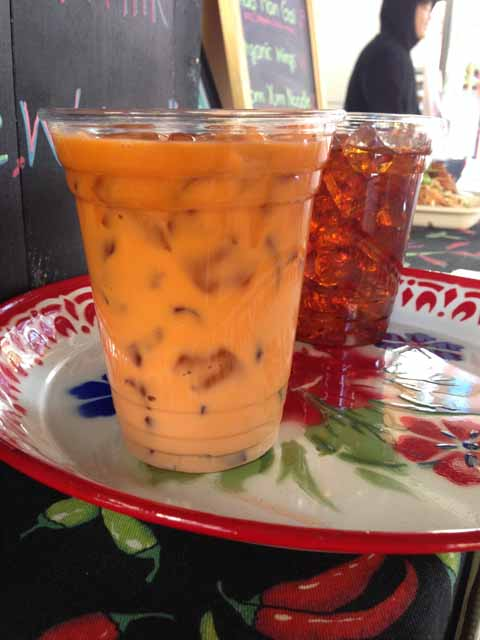 Thai Iced Tea at Kao Man Gai