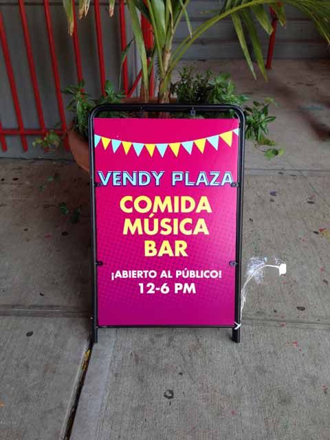 Vendy Plaza Sign